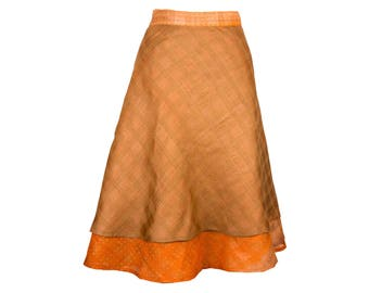 Reversible Silk Skirt, Wrap Skirt, Unique Clothing, Travel Skirt, Reversible Skirt, Plus Size Skirt, Silk Wrap Skirt, Silk Skirt