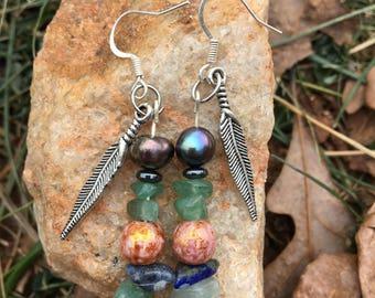 Free Bird Feather Earrings
