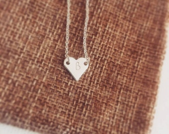 Personalised necklace, heart necklace, personalised gift, bridesmaid necklace, initial necklace, personalised jewellery, gift for women