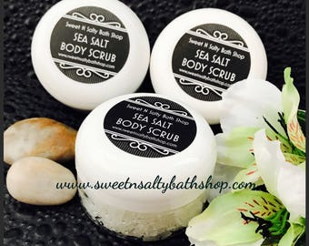 White Tea & Ginger Scented Sea Salt Hand and Body Scrub/More Scents to Choose From!