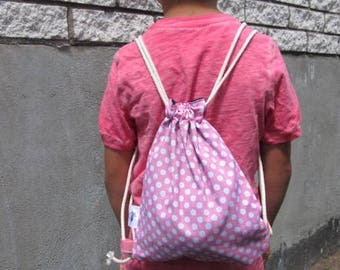 Drawstring pouch for child, Fabric bag, Sport bag,Drawstring bag, Storage bag, Travel bag