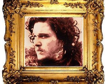 Game of Thrones Cross Stitch Pattern, Jon Snow, Kit Harington, Photo Realistic, Embroidery Chart, Counted Cross Stitch, Instant Download
