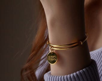 Expandable Coordinates Bangle • GPS Coordinates Bracelet • Longitude and Latitude Bracelet • Mother's Gift • Anniversary Gift CCB06