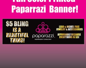 Paparazzi Horizontal Full Color Printed Vinyl Banner with metal grommets jewelery  Boutique Show Event Clothing Womens Canopy