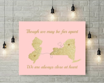 Grandma Long Distance Map | Birthday Gift | Christmas Gift | Gift From Grand kids | Valentines Day | Gift For Mom | Mother Day Gift -67877