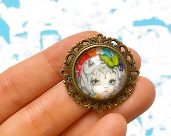 Minerva- Handmade Brooch