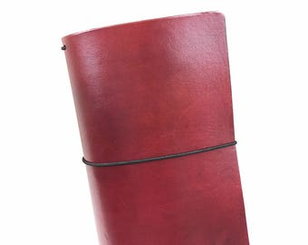Purple Leather Travelers Cover - Vegetable Tanned - CityGirl Collection - Mulberry Wine - Notebook - Full Grain - Journal - Hand-Dyed