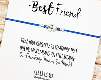 Best Friend Bracelet | Best Friend Gift | Friendship Bracelet | Going Away, Moving, Graduation, Miss You, Goodbye Gift | Long Distance Gift