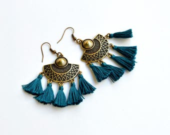 Ethnic Boho Dangles|Tassel Boho Earrings|Gypsy Earrings|Hippie Earrings|Tassels Earrings|Amazing Earrings|Boho Earrings|Gift for Her