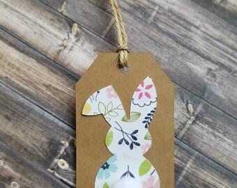 Bunny》BLANK TAGS《Kraft/Easter/Favor/Gift Tag
