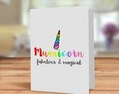 Mumicorn card, Unicorn ca...