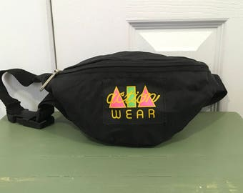 Vintage Fanny Pack Black Nylon