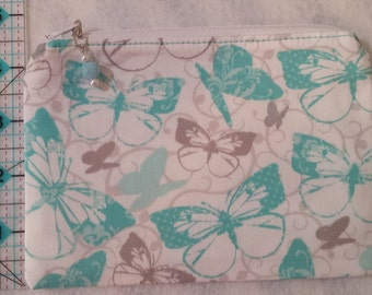 Very cute butterfly cosmetic or cross stitch bag