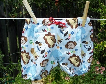 Zoo Animal Print Baby Bloomers, 3-6 months