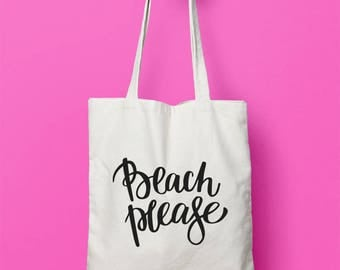 Beach Please Tote, Beach Bag, Funny Tote Bag, Tote Bag, Canvas Bag, Canvas Tote Bag, Beach Tote Bag, Pink Tote Bag, Black Tote Bag, Gift