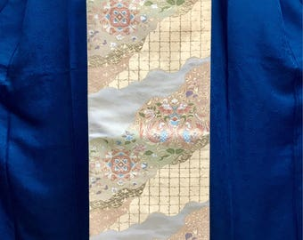 "OBI Fukuro obi ""Chinese Phoenix ""Nishijin brilliant fabric golden yarn Japanese kimono obi formal tea ceremony wedding party tapestry"