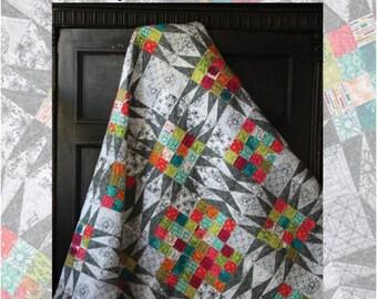 Morning Star + Evening Star quilt pattern - Beyond the Reef, Natalie Barnes - modern quilt pattern, contemporary star quilt