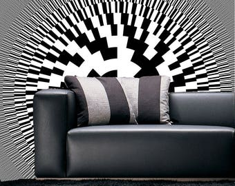 Graphic Patterns, Office Decor, Geek Decor, Nerd Decor, Full Color Wall Decal Sticker AN-265FRST