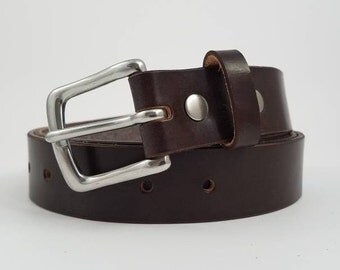 Brown Sedgwick English Bridle Leather Belt - 1.25'' W