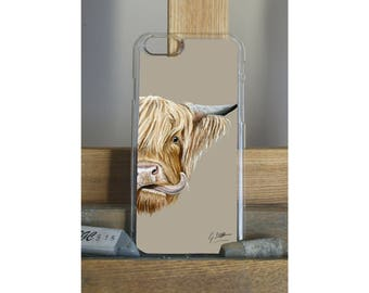 Highland Cow Phone Case iPhone Samsung