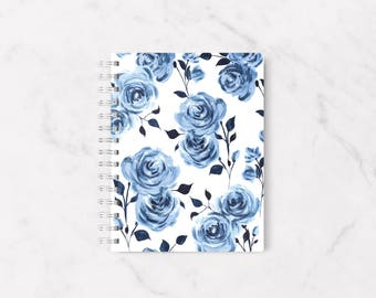 Floral notebook, Roses notebook, Personal notebook, Personal stationery, Fashion notebook, Handmade notebook, A5 notebook, Cute notebook