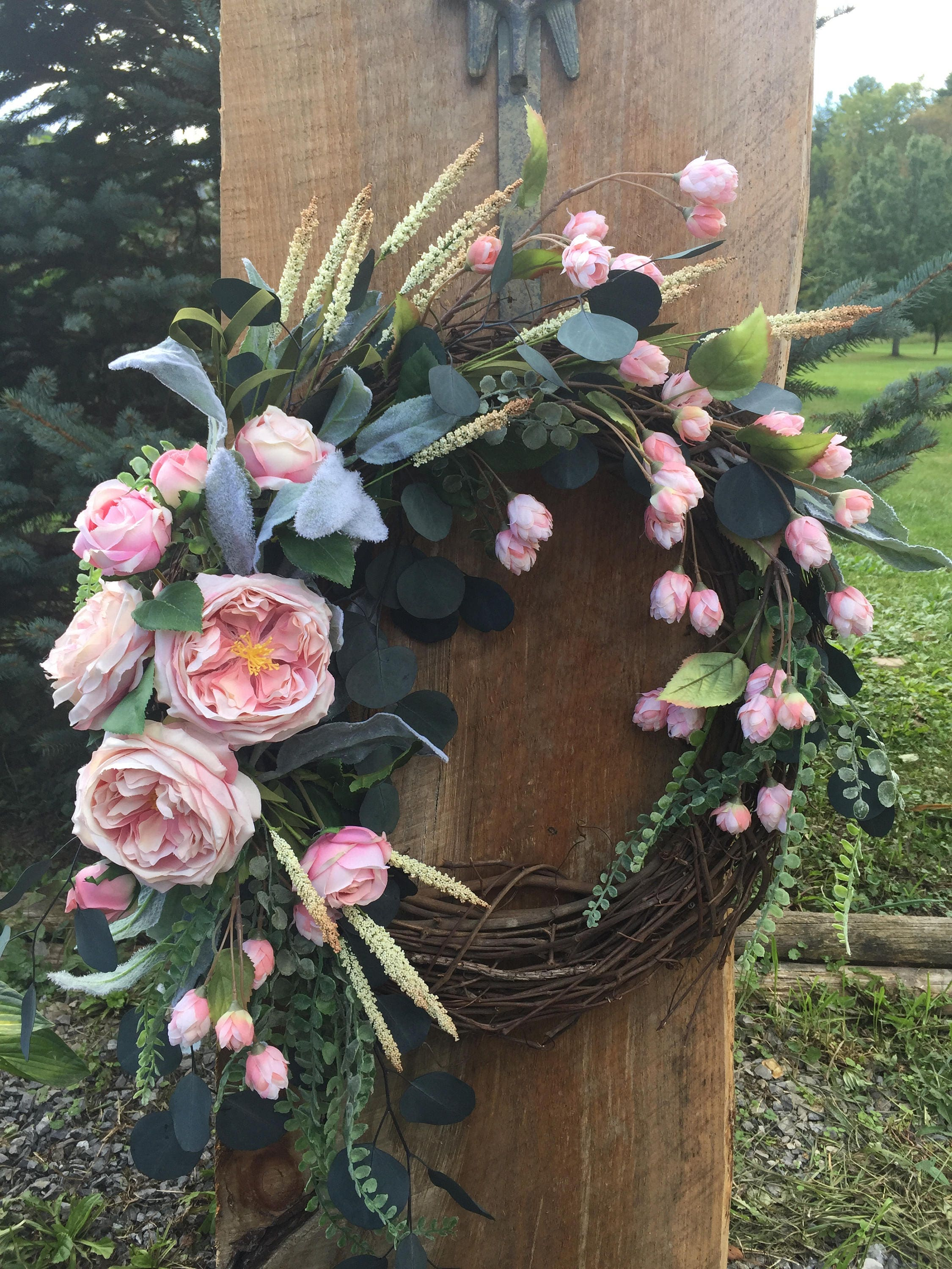 Romantic Rose Wreath, Farmhouse Wreath, Valentineu0027s Day Wreath, Wedding  Wreath, Motheru0027s Day