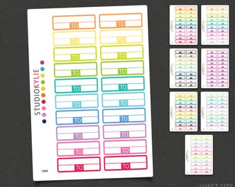 From To - Appointment Keepers - Planner Stickers - Repositionable Matte Vinyl