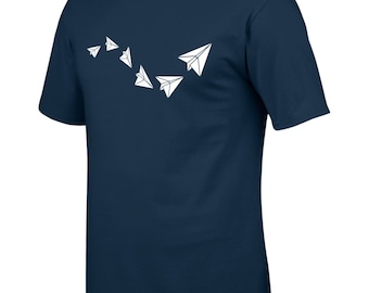 Men's, Paper, Paper Planes, Aeroplane, Origami, T-Shirt, Tee, Retro, Vintage, Games, Origami Gifts, Gifts, New