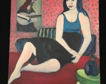 C. Wahrman Portrait Woman oil painting