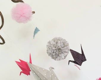Mobile Origami Cranes and tassels