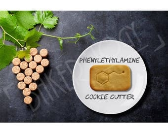 Phenylethylamine Molecule cookie cutter - Chemical neurotransmitter graduation gifts psychology biology hormone hormones chocolate chemistry