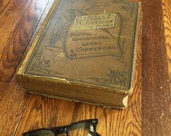 Gaskell's Compendium of Forms 1884, Large Coffee Table Book