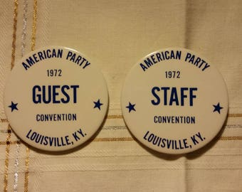 Vintage American Party Convention Buttons