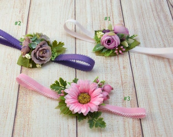 Girls headband Flower headband baby Shower gift Newborn photo props Baby girl headband Flower girl headband Childs headband Gift for baby