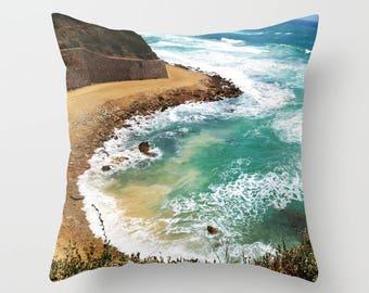 Gorgeous throw pillow cover sea print, throw pillow cover, decorative pillow, designer pillow cover