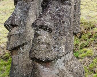 Moai Up Close | Easter Island, Chile ~ Moai, statue, carving, bird man, Ahu Tongariki, Rapa Nui, Rano Raraku, Polynesia, stone