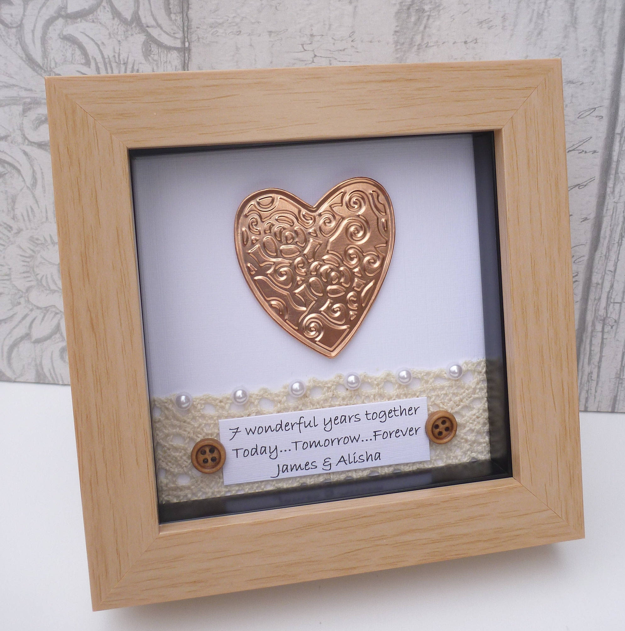 Traditional 7th Wedding Anniversary Gifts: 7th Wedding Anniversary Gift, 7th Anniversary Gift,copper