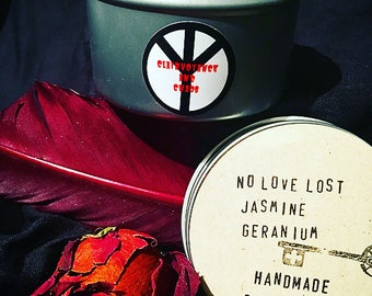 handmade No Love Lost soy candle