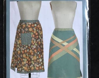 Indygo Junction IJ835 Best Bias Skirt with Contrast Fabric Detail - Size XS-2XL