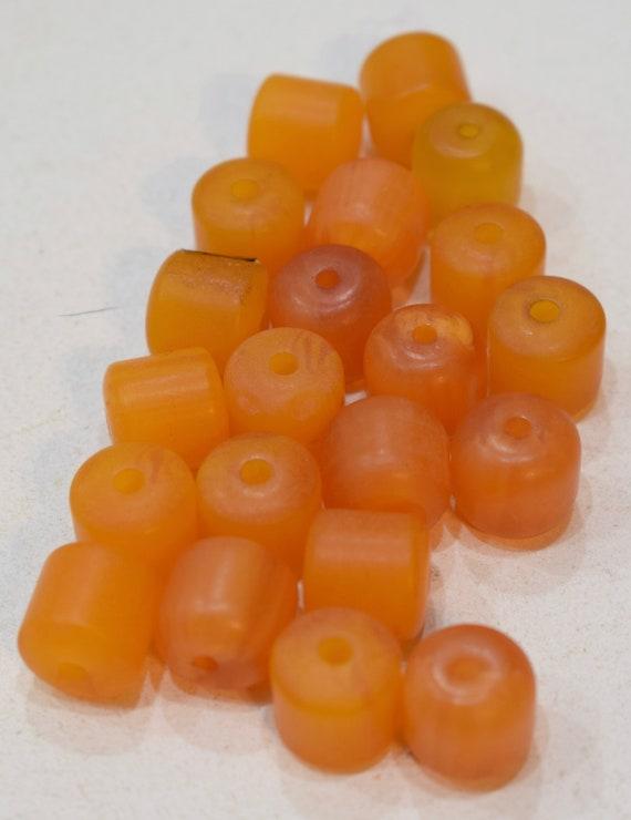 Beads Honey Copal Amber Cube Vintage Beads 12mm
