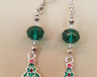 Emerald Bead and Christmas trees  EE-156