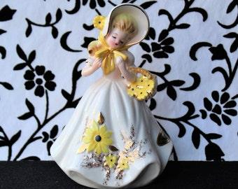 Vintage JOSEF ORIGINALS SUNFLOWER Southern Belle Figurine