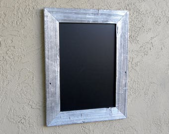 Rustic Chalkboard with Silver Wooden Frame. Kitchen Menu. Menu Chalkboard. Rustic Wedding Menu. Farmhouse Decor. Chalkboard in Custom.