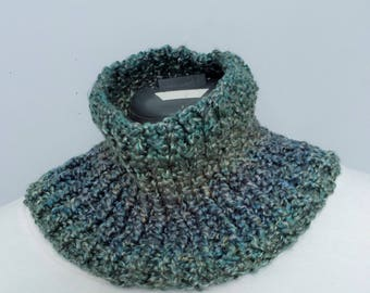 Ocean Cowl - Hand Knitted for Adult Size