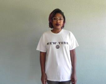 New York White T Shirt