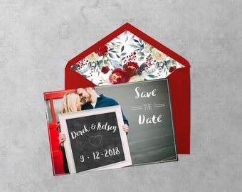 Chalk Board Save the Date