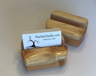 Business Card Holder Solid Wood