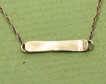 14k Gold Snowboard Necklace w/ Chain