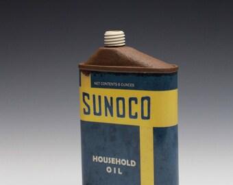 "Porcelain Flask ""SUNOCO"""