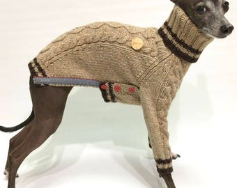 Italian Greyhound apparel-handmade twiddle sweater